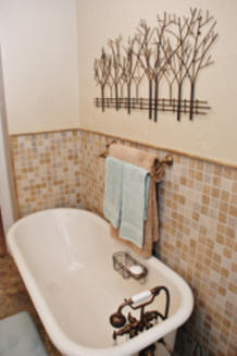 Cast Iron Tub with tile surround in Hoquiam